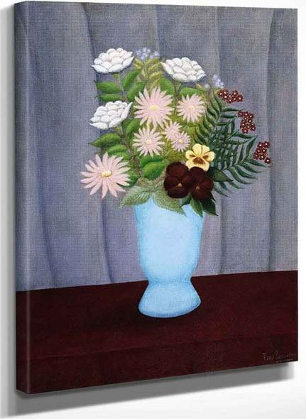 Garden Flowers By Henri Rousseau