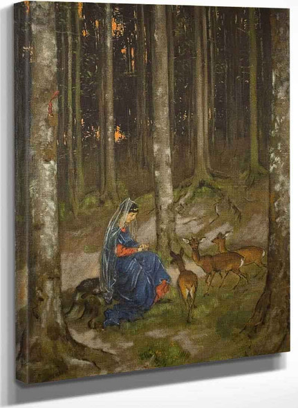 Genoveva In The Solitude Of The Forest By Hans Thoma