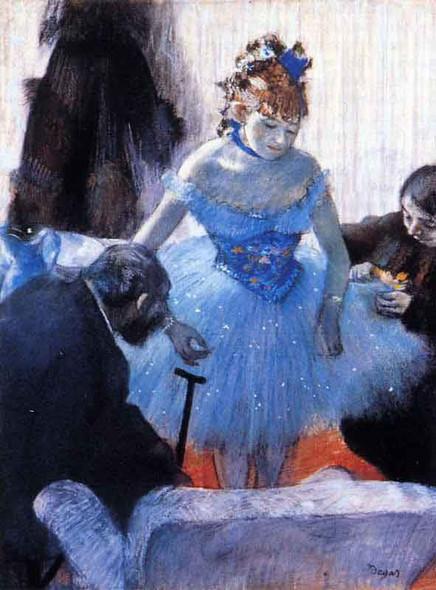 Dancer's Dressing Room By Edgar Degas