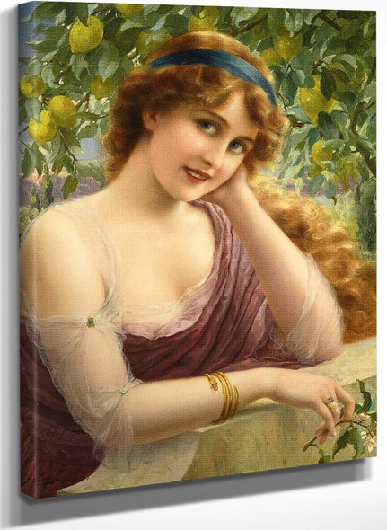 Girl By The Lemon Tree By Emile Vernon