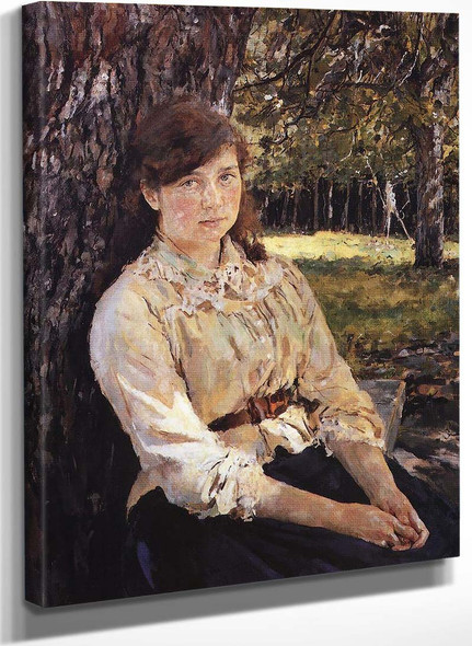 Girl In The Sunlight By Valentin Serov