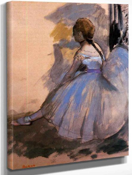 Dancer Seated  By Edgar Degas