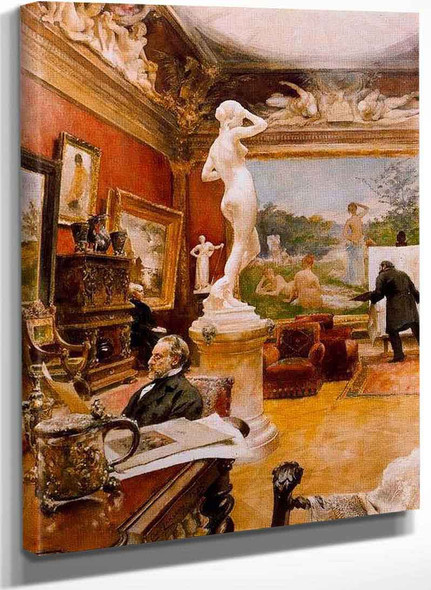 Interior Of Furstenberg Gallery By Carl Larssonv