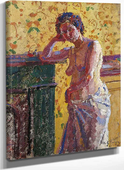 Interior With Nude By Harold Gilman
