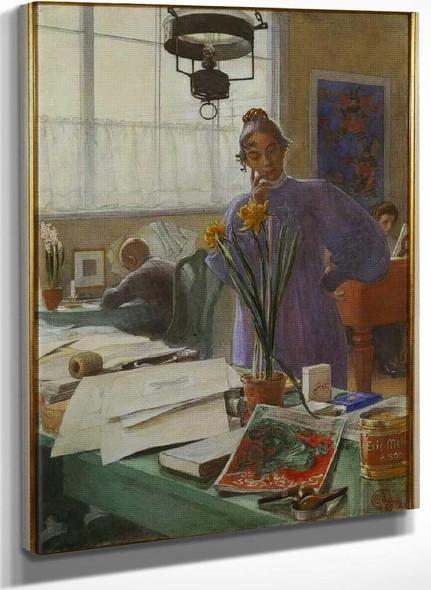 Karin In The Studio By Carl Larssonv