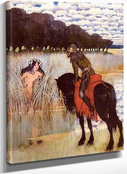 Knight And Mermaid By Edward Okun