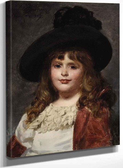 Laura At Seven By Charles Auguste Emile Durand