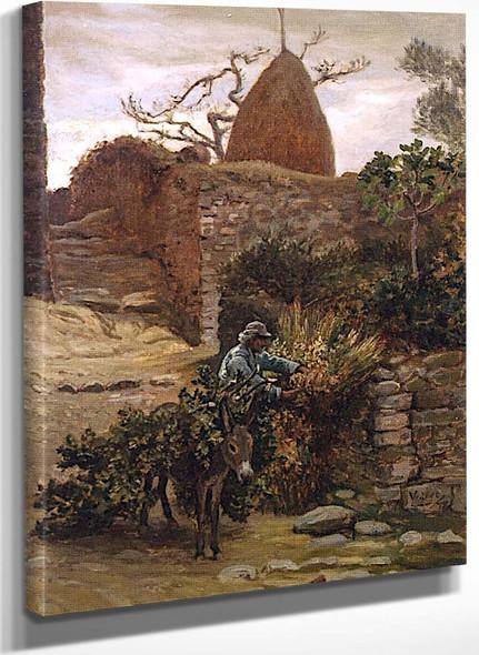 Man With A Donkey By Elihu Vedder