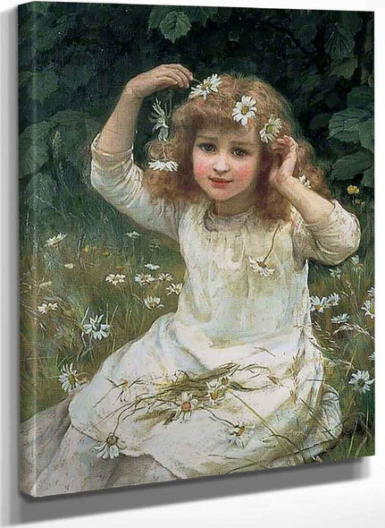 Marguerites By Frederick Morgan