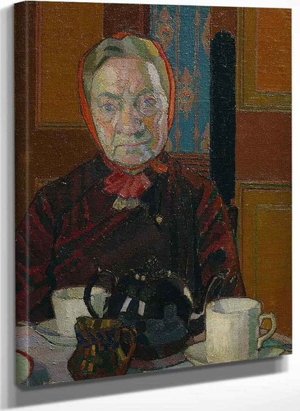 Mrs Mounter At The Breakfast Table By Harold Gilman