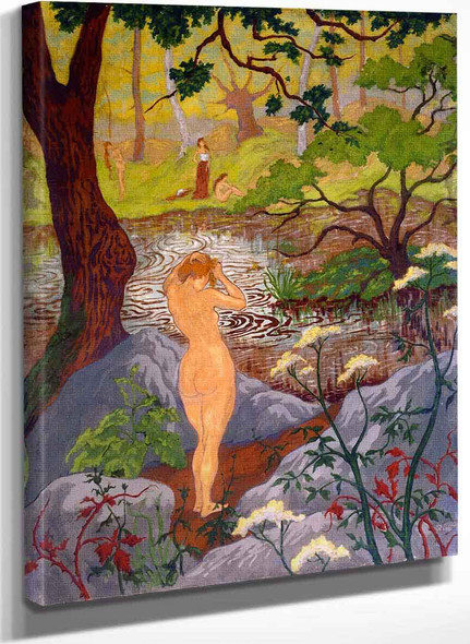 Nude Fixing Her Hair By A Pond By Paul Ranson