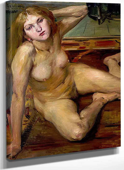 Nude Girl On A Rug By Lovis Corinth