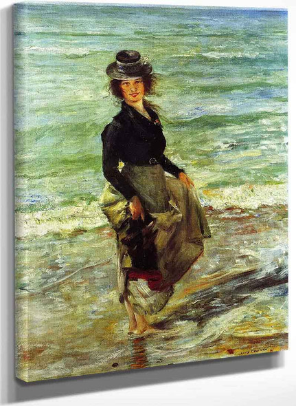 Paddel Petermannchen (Also Known As Charlotte Berend Paddling) By Lovis Corinth