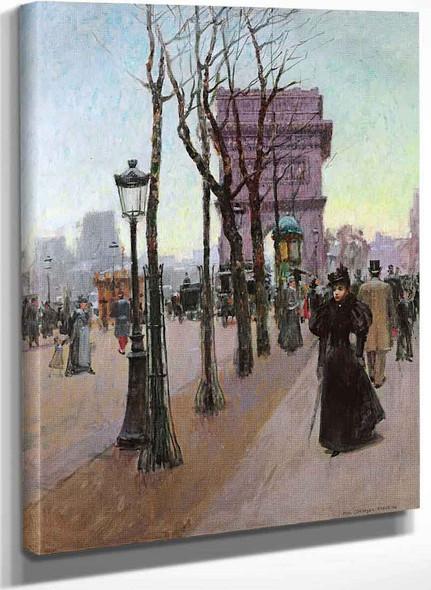 Paris Arc De Triomphe By Paul Cornoyer
