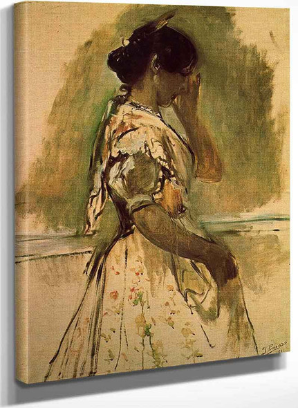 Peasant Girl By Ignacio Pinazo Camarlench