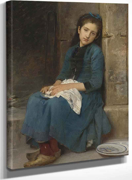 Pensive Girl (Also Known As Innocence) By Leon Jean Basile Perrault