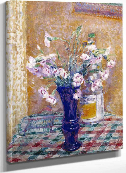 Pinks In A Vase By James Bolivar Manson