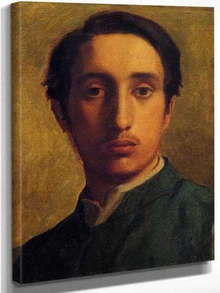 Degas In A Green Jacket By Edgar Degas