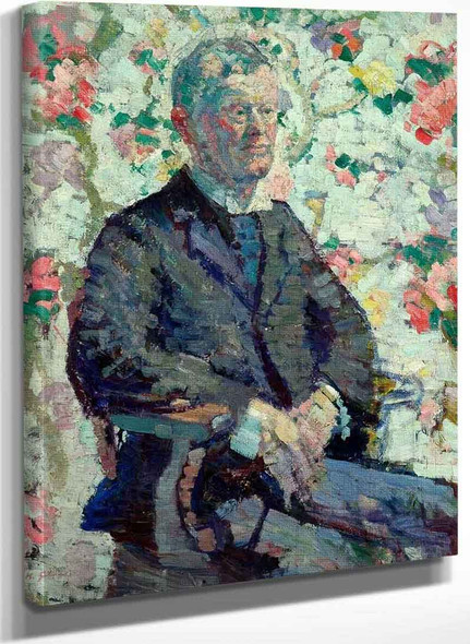 Portrait Of A Man By Harold Gilman