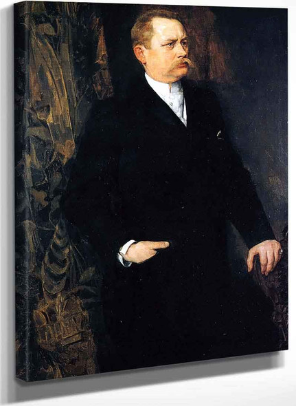 Portrait Of A Man By Wilhelm Trubner