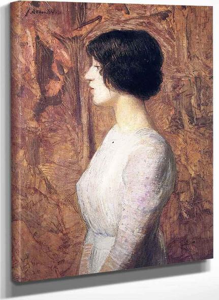 Portrait Of A Young Woman By Julian Alden Weir