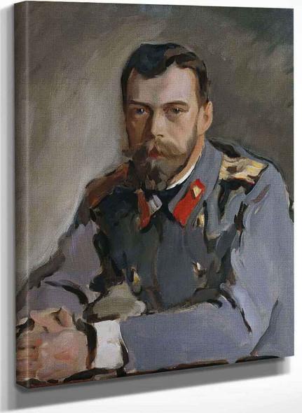 Portrait Of Emperor Nicholas Ii By Valentin Serov