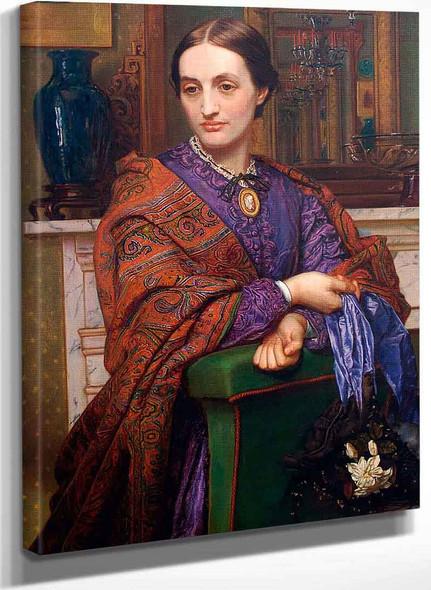 Portrait Of Fanny Holman Hunt 1 By William Holman Hunt