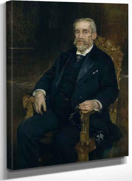 Portrait Of Francisco Romero Robledo By Ignacio Pinazo Camarlench