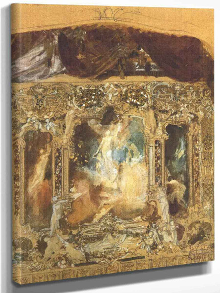 Design For A Theater Curtain1 By Gustav Klimt
