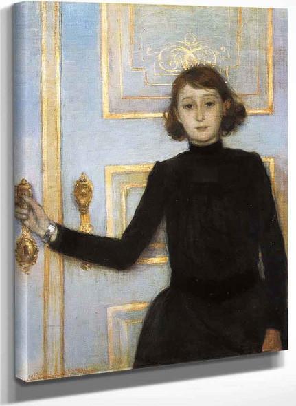 Portrait Of Marguerite Van Mons By Theo Van Rysselberghe
