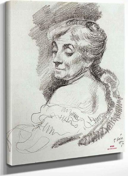 Portrait Of Mme Van Rysselberghe By Theo Van Rysselberghe