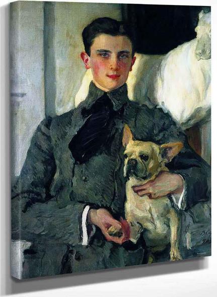 Portrait Of Prince Yousoupoff With A Dog By Valentin Serov