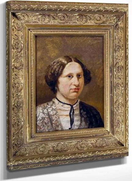Portrait Sketch Of A Woman By Sir Lawrence Alma Tadema