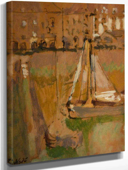 Dieppe Harbour, France 2 By Walter Richard Sickert By Walter Richard Sickert