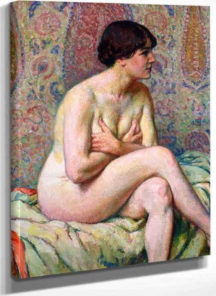 Seated Nude By Theo Van Rysselberghe