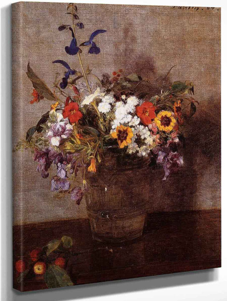 Diverse Flowers By Henri Fantin Latour By Henri Fantin Latour