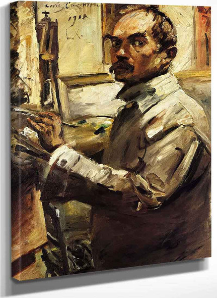Self Portrait In A White Smock By Lovis Corinth