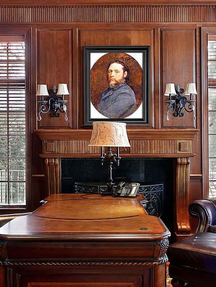 Self Portrait By Jules Adolphe Breton