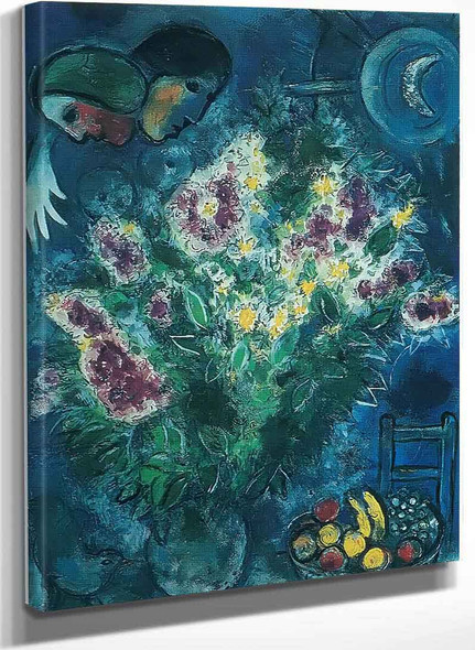 Still Life Of Flowers By Marc Chagall