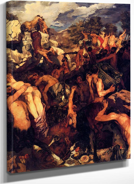 The Battle Of The Lapiths And Centaurs By Wilhelm Trubner
