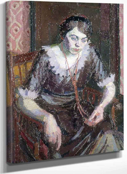 The Coral Necklace By Harold Gilman