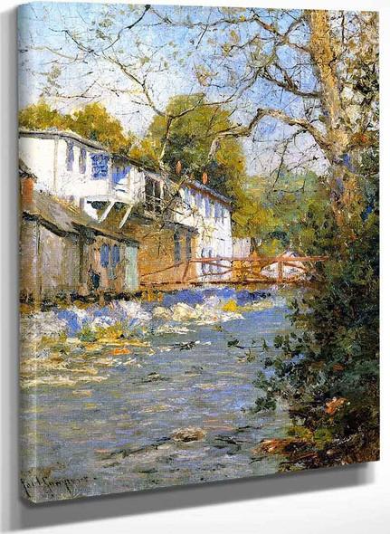 The Little Bridge By Paul Sawyier