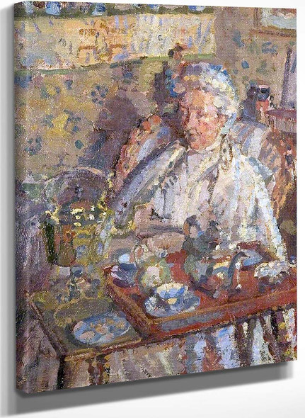 The Old Lady By Harold Gilman