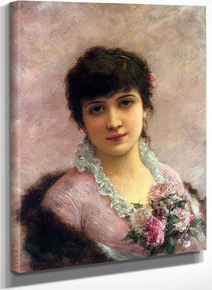 The Rose Beauty By Emile Eisman Semenowsky