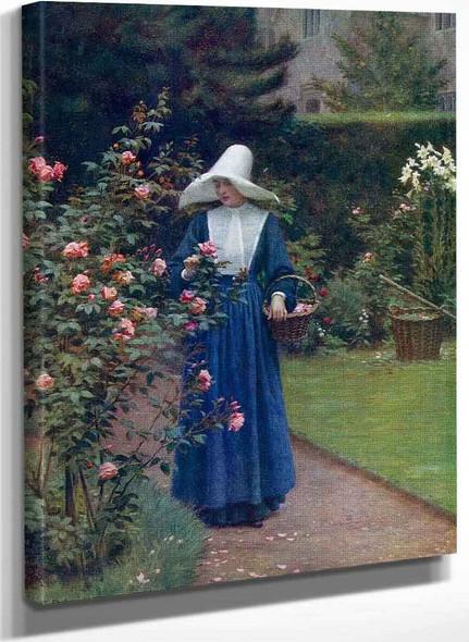 The Roses Day By Edmund Blair Leighton