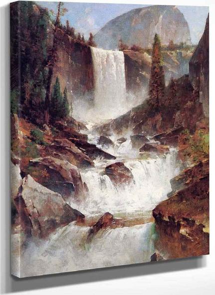 Vernal Falls Yosemite By Thomas Hill