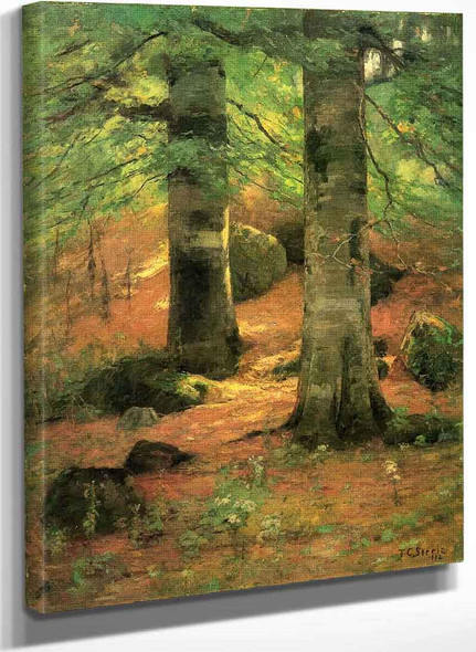 Vernon Beeches By Theodore Clement Steele