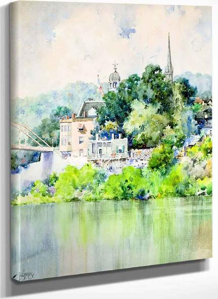 View Of The Singing Bridge Frankfort Ky By Paul Sawyier