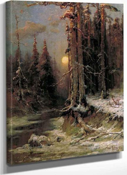 Winter Evening 1 By Julius Klever