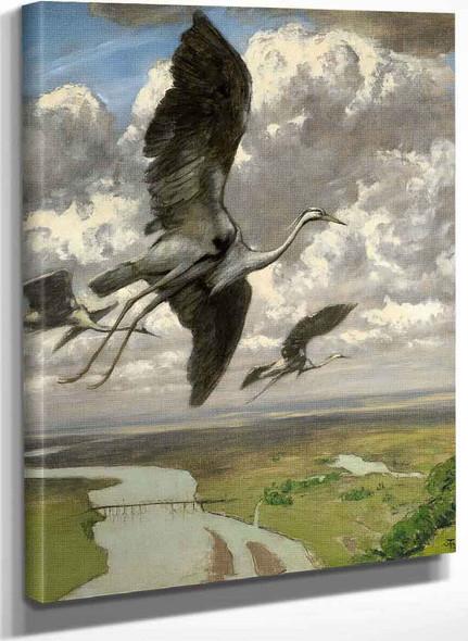 Wondrous Birds By Hans Thoma